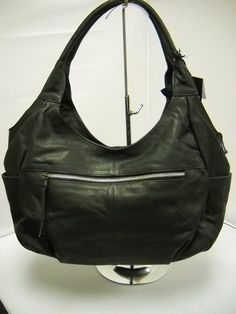 1 Gabee Black - Two handles. Hard Wear, How To Wear, How To Make Handbags, Pu Leather, Shoulder Bag, Zip, Clothes For Women, Stylish, Lady