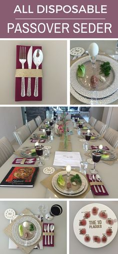 How to create a beautiful Passover Seder Table using all disposable tableware   http://www.apeloigcollection.com/blogs/news/113869829-make-a-passover-seder-all-disposable
