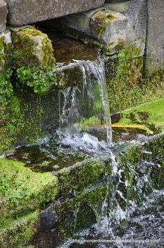 Water feature at Pairi Daiza Park in Belgium