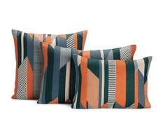 Textured Stripe Pillow, Orange   Was in sitting room of ladies change area on couch in Nordstrom Bellevue WA.