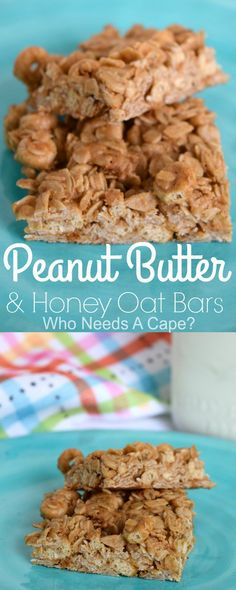 Peanut Butter & Honey Oat Bars are easy to make and perfect for breakfast, snack or for lunch boxes. #ad #savealotinsiders @savealot