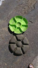 garden flower stone diy, crafts, gardening