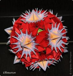 Origami Ball, Origami Flowers, Craft Projects, Crafty, Paper, Design, Ideas, Objects, Tutorials