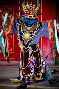 Mongolian Shaman - a cham-dancer Tibet, Charles Freger, Religion, Cultural, World Cultures, Pagan, Wicca, People Around The World, Folk