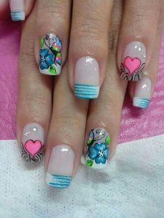 Nails  #AndryRegiino 3d Nail Art, 3d Nails, Pedicure Designs, Nail Designs, Flower Nail Art, Manicure And Pedicure, Summer Nails, Pretty Nails, Hair And Nails