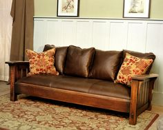 Drop arm morris settle by CaledoniaStudios on Etsy Craftsman Style Furniture, Mission Style Furniture, Furniture Styles, Cheap Furniture, Furniture Design, Arts And Crafts Furniture, Handmade Furniture, Living Room Furniture, Home Furniture