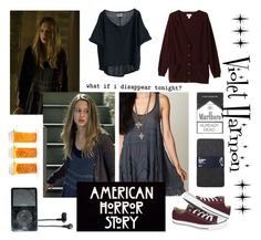 """""""American Horror Story - Violet Harmon"""" by shannen-legere-lavigne ❤ liked on Polyvore featuring Free People, Gap, Converse, Abercrombie & Fitch, Monki and ahs"""