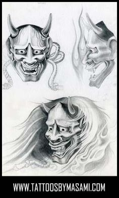 Looking For Unique Dave Burns Tattoos Hannya Masks