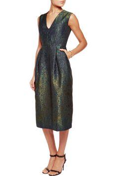 Iris and Ink metallic Josephine jacquard midi dress