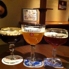 ベルギービールでベルギーの国旗再現!