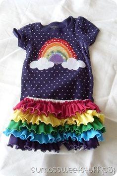 Rainbow shirt and skirt from @Summer Andrus {Sumo's Sweet Stuff}
