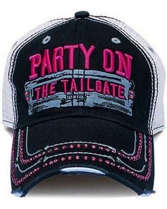 529bf7a9 Farm Girl Party on the Tailgate Bling Cap Black Party, Ladies Party,  Tailgating,