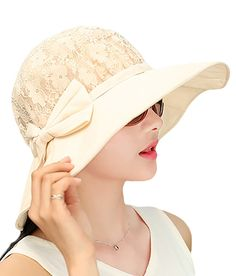 IL Caldo Womens Summer Sun Hats Lace Top Foldable Floppy Wide Brim Hat >>> Don't get left behind, see this great outdoor item : Best Travel accessories for women