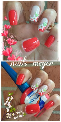 Marcela Chaur #Masglo New Nail Art Design, Creative Nail Designs, Toe Nail Designs, Creative Nails, Cute Nails, Pretty Nails, Nail Candy, Nail Designs Spring, Toe Nail Art