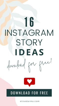 Download your free Instagram story ideas now and start getting more engagement on your IG stories. Just sign up with your email address and you'll get 16 useful Instagram story ideas so you never run out of content! Never wonder what to post on your stories again. Download your ideas today! Instagram Hacks, Instagram Bio, Instagram Marketing Tips, Instagram Story Ideas, Social Media Plattformen, Social Media Marketing Business, Online Business, Marketing Digital, Online Marketing