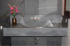 Like this with broken edge front Concrete Barrel Sink Concrete Sinks Concrete Evolution Inc San Rafael, CA