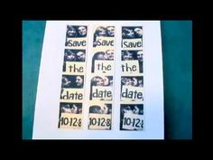 How to make DIY save the date cards. Love this idea