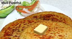 Muli Paratha Recipe - Recipes Table Lemon Pickle Recipe, Paratha Recipes, Naan, Vegan Gluten Free, Pickles, Bread Recipes, A Food, Stuffed Peppers, Cooking