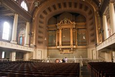 The Newberry Memorial Organ is among the largest & most notable orchestral organs in North America. Located in Woolsey Hall at Yale University, the organ contains 197 ranks & 166 stops comprising 12,617 pipes. It is one of the largest organs in the world. The first Woolsey Hall organ was built by the Hutchings-Votey Organ Co. of Boston in 1902. The instrument was expanded to its current configuration & size in 1927-1928 by the Skinner Organ Company of Boston as Skinner(Op. 722).