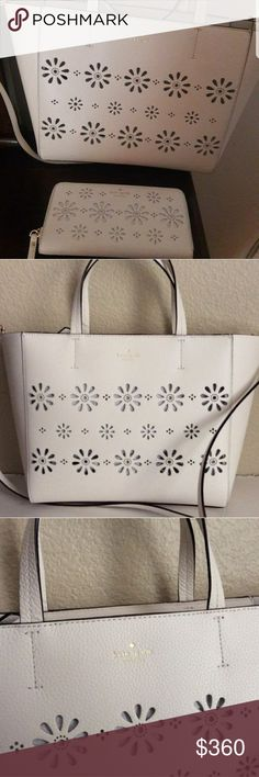ea6d91eab8 Kate Spade Elizabeth Faye Drive Leathr Tote Wallet Kate Spade Elizabeth  Faye Drive Leather Tote Satchel Cement Cross Body Bag and Wallet for  360  New