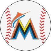 Miami Marlins baseball floor mat