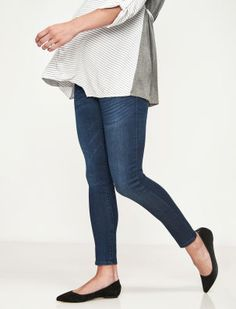 a155ad4671976 A Pea in the Pod Luxe Essentials Denim Secret Fit Belly Addison Ankle  Skinny Maternity Jean
