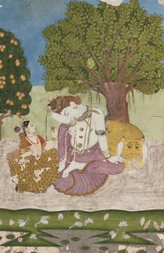 PROPERTY FROM THE ESTATE OF DR. CLAUS VIRCH    PARVATI OFFERS A CUP TO AN INTOXICATED SHIVA  Estimate  4,000 — 6,000  USD   LOT SOLD. 4,000 USD