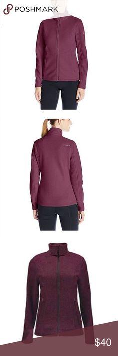 Spyder Endure full zip mid wt stryke jacket Product: Spyder Women's Endure Full Zip Mid-Weight Stryke Jacket. Polyester Mid-Weight sweater knit bonded to anti-pill fleece. Machine Wash : Yes. Size: Medium. Color:  Burgundy. Sizes: variety Spyder Jackets & Coats Utility Jackets