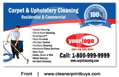 Carpet Cleaning Business Cards C0006 Uv Gloss Commercial Recipes