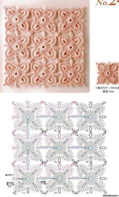 Очень много схем для безотрывного вязания