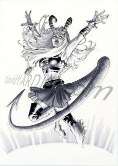 A recent marker commission of Magik in her Darkchylde persona. All art by me. Magik Marvel, Marvel Dc Comics, Marvel Comic Character, Character Art, X Men, Western Comics, Female Superhero, Figure Sketching, Comics