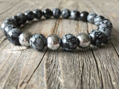 Men gemstone wanderlust bracelet stretch stacking door KennlyDesign