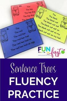 Teach Your Child To Read Tips - Sentence Trees are a wonderful way for your beginning readers to gain confidence in their reading skills. - TEACH YOUR CHILD TO READ and Enable Your Child to Become a Fast and Fluent Reader! Reading Fluency Activities, Fluency Practice, Kindergarten Reading, Reading Strategies, Reading Skills, Teaching Reading, Reading Comprehension, Dyslexia Teaching, Reading Practice