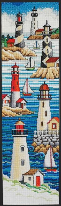 Janlynn - Lighthouses Counted Cross Stitch Kit # 013-0229
