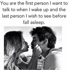 You are the first person I want to talk to when I wake up and the last person i wish to see before I fall asleep love love quotes quotes quote relationship quotes couple quotes happy couples relationship quotes and sayings Good Relationship Quotes, Relationship Marketing, Relationship Goals Pictures, Couple Relationship, Relationships Love, Person Falling, Couple Goals Cuddling, Babe Quotes, Couple Quotes