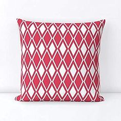 APHROCHIC(RED) Kuba throw pillow Holiday Gift Guide, Holiday Gifts, Custom Fabric, Spoonflower, Artisan, Throw Pillows, Wallpaper, Creative, Red