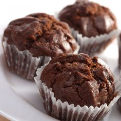This easy chocolate muffins recipe is so quick to throw together.  Save half a cup of coffee when you brew it to have on hand when you make these tasty muffins.. Easy Chocolate Muffins Recipe from Grandmothers Kitchen.