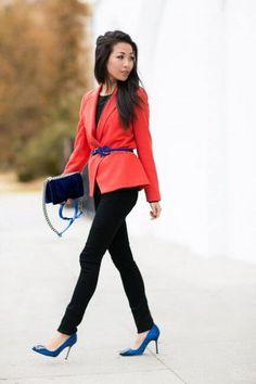 0733505a4a0b7 14 фото, с чем носить женский красный пиджак в 2018 Bow Heels, Manolo  Blahnik