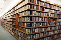 Bookshelves inside Random House.