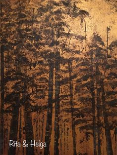 cm original acrylic abstract forest painting on canvas, Rita & Helga wall decor Forest Painting, Wall Decor, Wall Art, House Design, Paintings, Landscape, The Originals, Abstract, Canvas