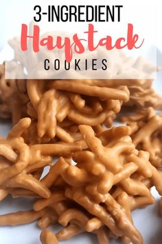 3 ingredient no bake haystack cookies make this easy no bake cookies and cream chocolate pie when you need a chocolate fix the layers of cookies and chocolate pudding will make this pie your new favorite dessert Christmas Snacks, Holiday Treats, Holiday Recipes, Christmas Candy, No Bake Christmas Cookies, Christmas Recipes, Christmas Pretzels, Christmas Ideas, Christmas Goodies