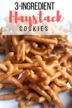 3-Ingredient No-bake Haystack Cookies