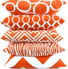 Tangerine Orange Pillow Cover 24x24 inch Euro by DeliciousPillows, $27.00