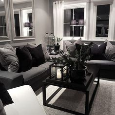 31 Interesting Grey White Black Living Room Decor Ideas And Remodel. If you are looking for Grey White Black Living Room Decor Ideas And Remodel, You come to the right place. Below are the Grey White. Black White And Grey Living Room, Living Room Grey, Home Living Room, Black Living Room Furniture, Black Furniture, Apartment Living, Apartment Ideas, Living Room Decor Grey Couch, Black Room Decor