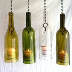 Empty Wine Bottle Decoration Ideas Simple 40 Diy Ideas On How To Transform Empty Wine Bottles Into Useful Inspiration