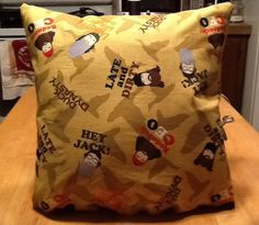 Duck dynast throw pillow. Back is solid tan by MawmaRosesCrafts, $15.00