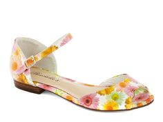 Modcloth Steps in a Stylish Direction Sandals in Daisies, $32.99; modcloth.com #shoes #flats