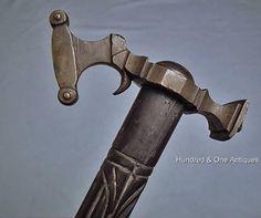 Antique Polish Hungarian War Hammer  Obuszek to sword 17th -18th century Poland #WarHammerObuchObuszek
