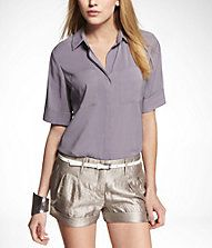 SHORT SLEEVE 2-POCKET BOXY FIT SHIRT