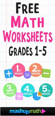 Free Math Worksheets — Mashup Math